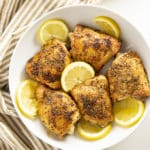 chicken thighs baked with lemon pepper
