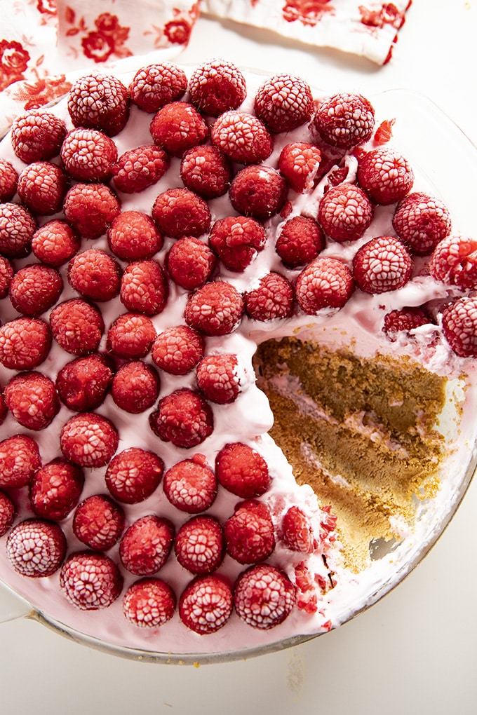 lemonade pie with raspberries using cream cheese