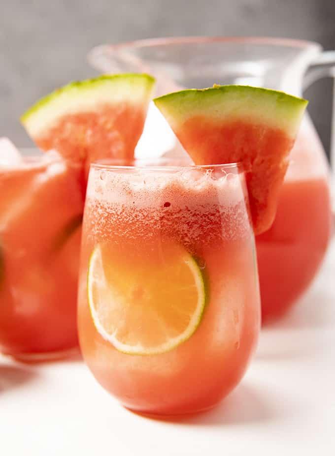 watermelon sangria with white wine