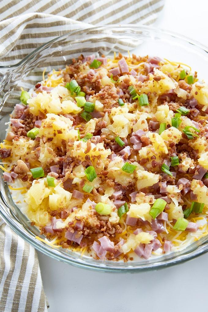 hawaiian dip with ham and bacon