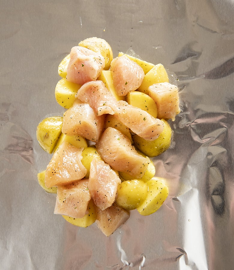 chicken foil packets with potatoes