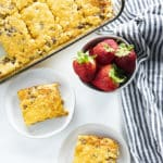 easy sausage breakfast casserole made with bisquick