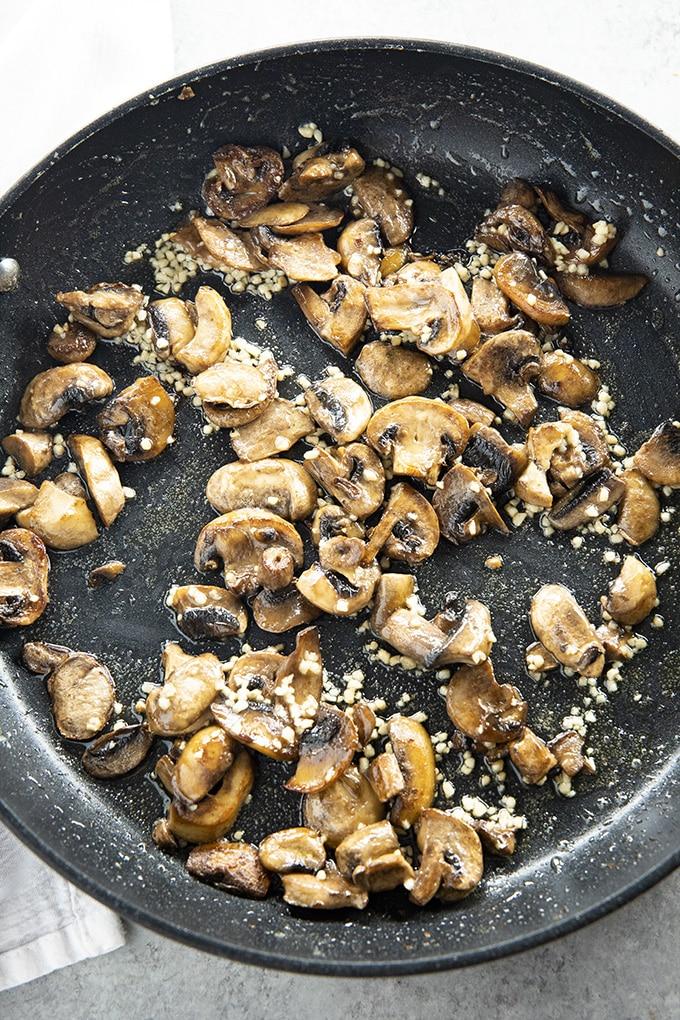 sauteed mushrooms for mushroom pasta