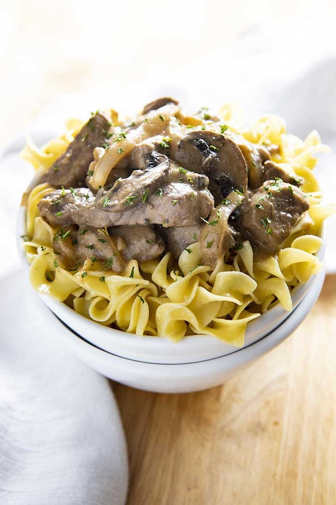 Beef Stroganoff Is A Dinner That Has Been Around For Ages But Never Gets Old Everyone In My Family Adores This Classic Recipe Full Of Tender