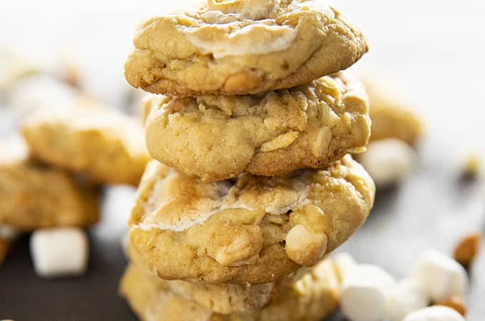 how to make salty marshmallow potato chip cookies