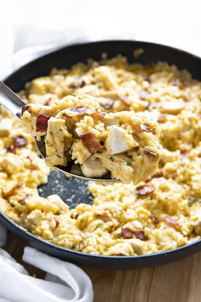 Bacon Ranch One Pot Chicken And Rice The Salty Marshmallow