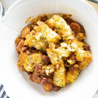 how to make chili dog casserole