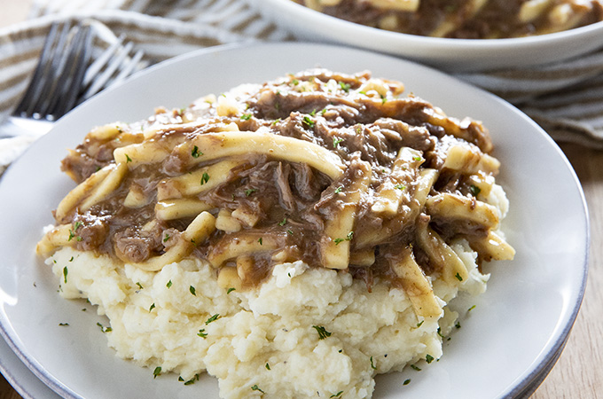 beef and noodles made in the instant pot