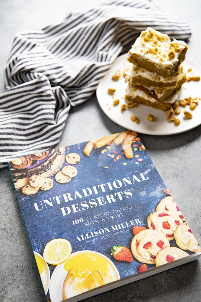 fluffernutter bars from untraditonal desserts cookbook