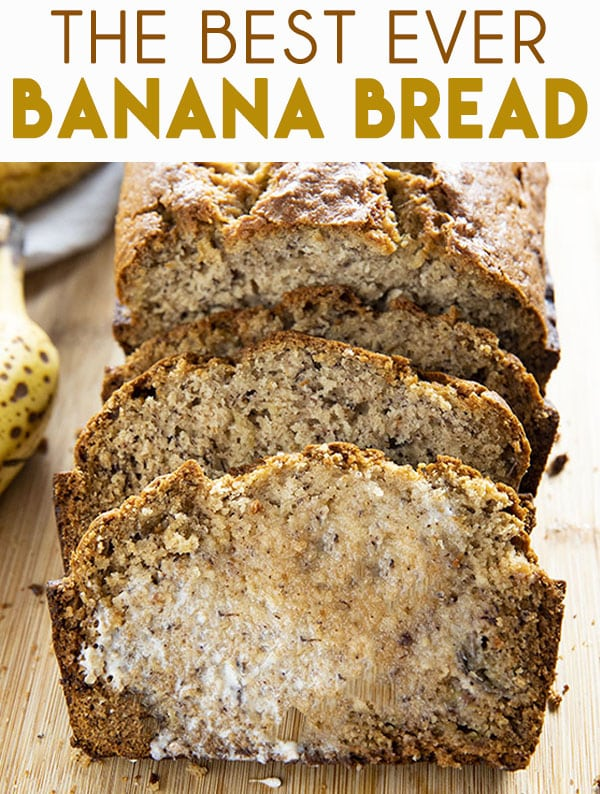 Best Banana Bread Recipe is so easy to make and super soft and moist!  The very best way to use up overripe bananas this bread is tender and packed full of flavor! #bananabread #easybananabread #bestbananabread #bananabreadrecipe #thesaltymarshmallow