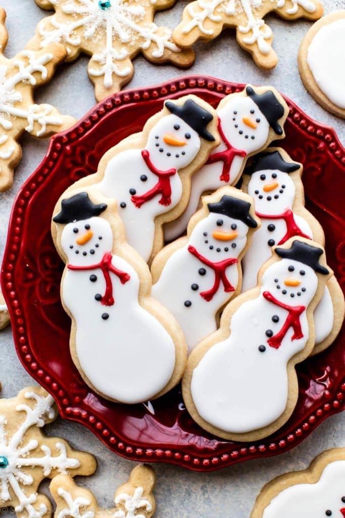 雪人糖饼干