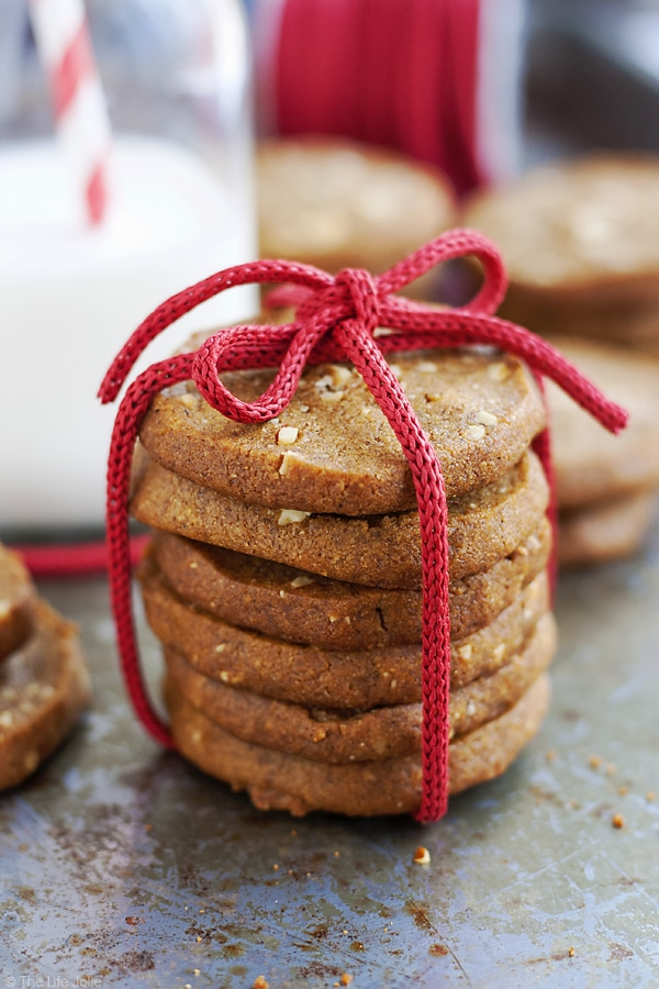 almond ginger cookies