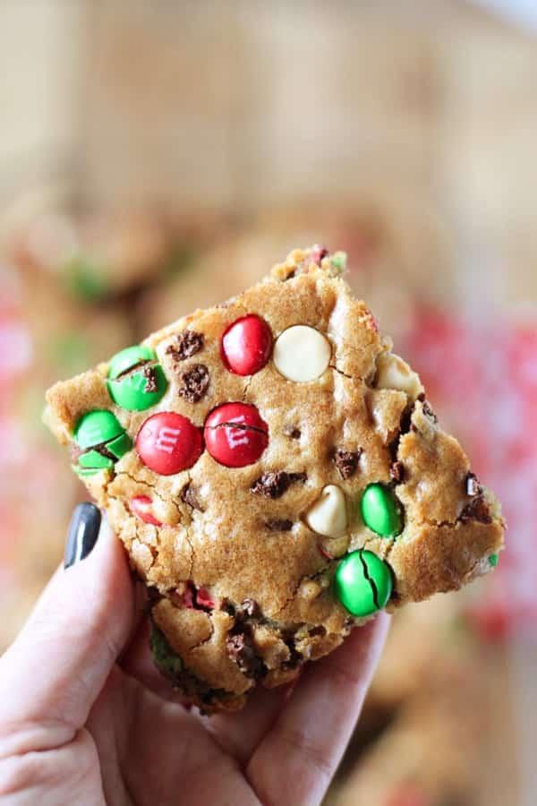 m&m cookie bars