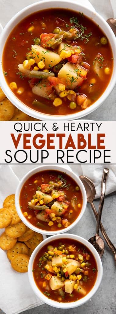 简易蔬菜汤简单却又丰盛,全家人都会喜欢的美味汤食谱!你可以在炉子顶部或慢火锅上做蔬菜汤食谱!蔬菜汤