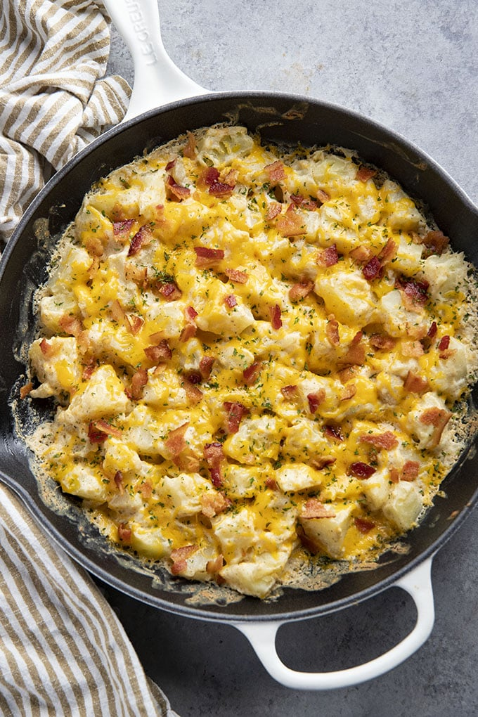 ranch potatoes in skillet