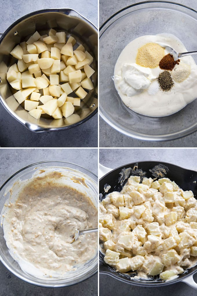 how to make cheesy ranch potatoes
