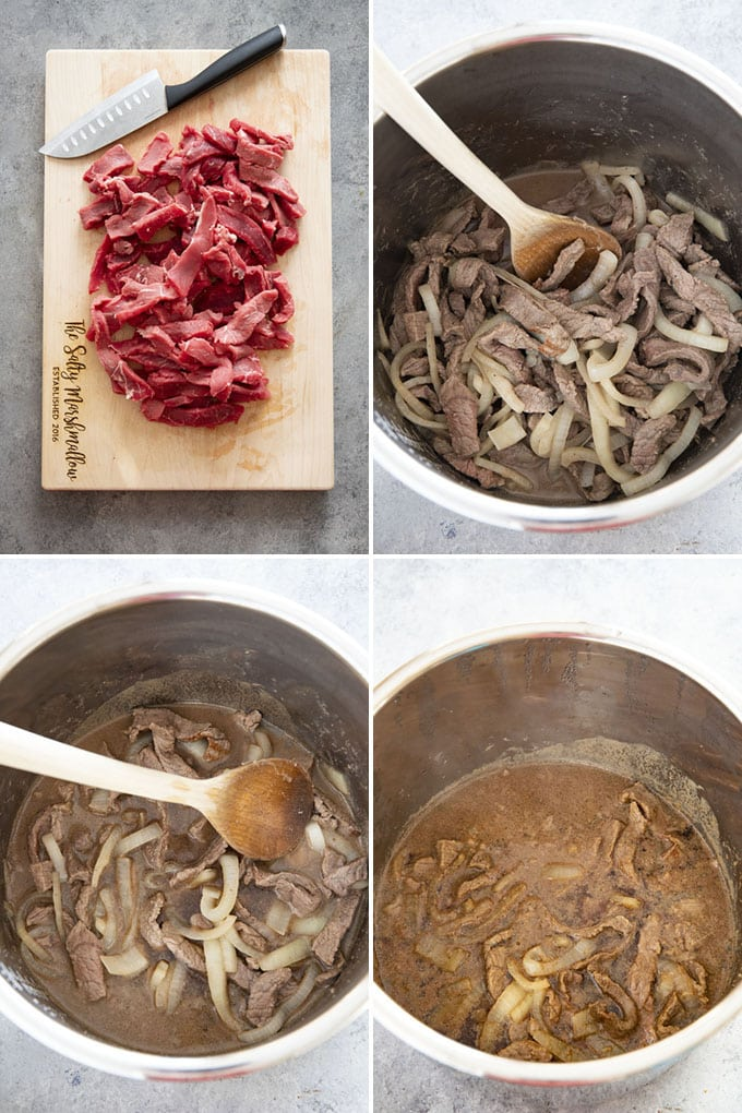 steps to make instant pot philly cheesesteak