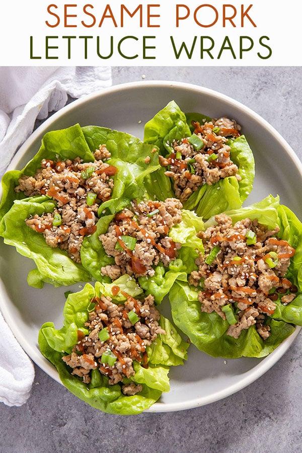 lettuce wraps with pork