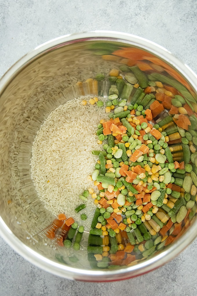 instant pot rice and vegetables