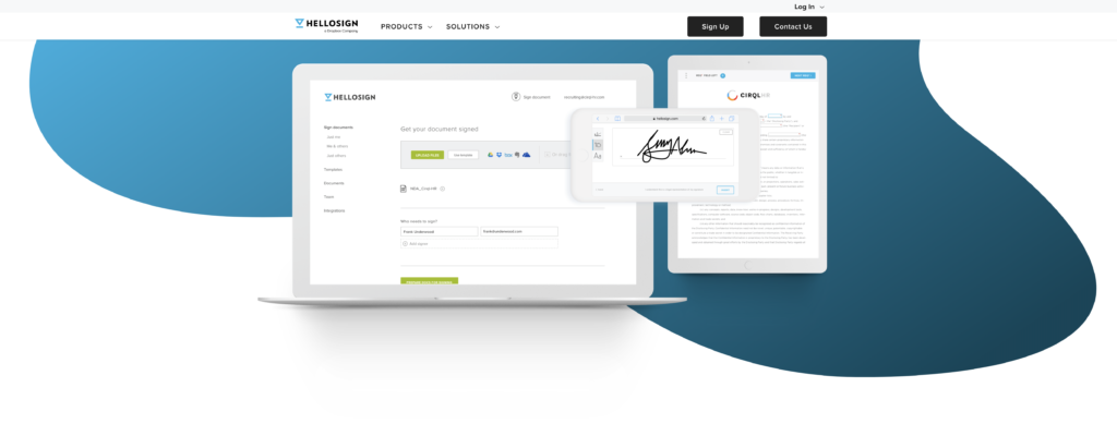 hellosign is the best tool for signing virtual assistant contracts