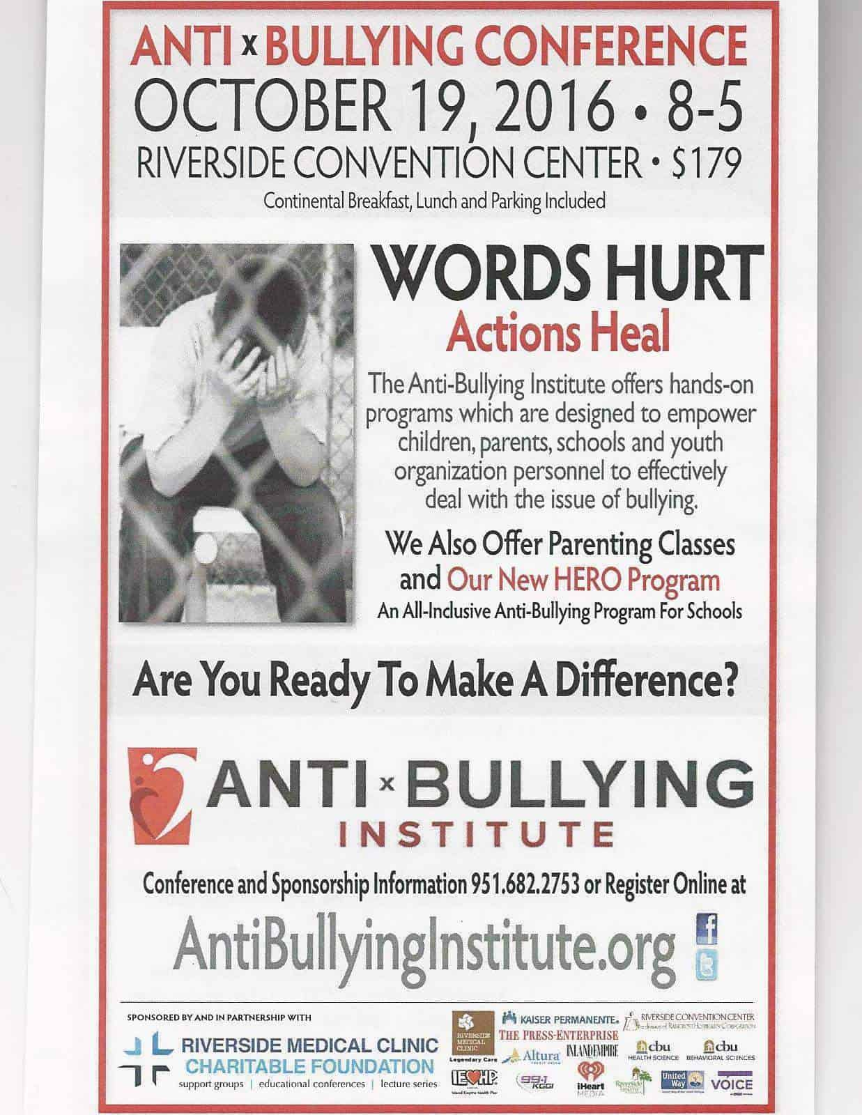 Just returned from The Anti-Bullying Institute (of Southern California) Annual Conference presenting