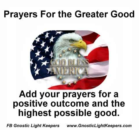 Pray for a positive outcome for the Presidential election. Join prayers Sunday at 6 PM EST. Join mil