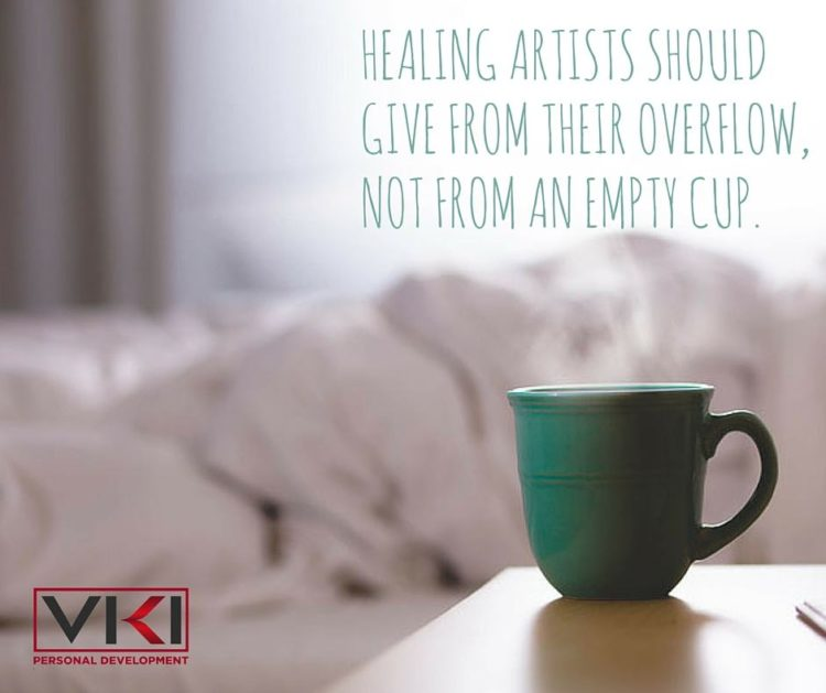 Are you living from your overflow? #selfcareisselflove Healing artists empty cup