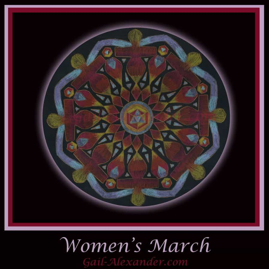 Image Created for the Women's March and to Hold the Energy and continue to build solidarity! w