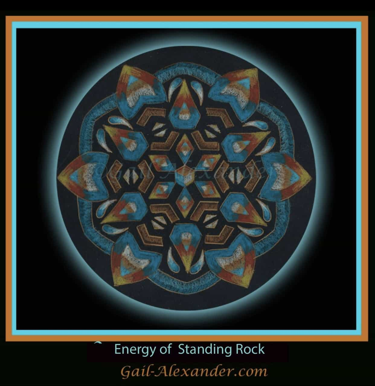 Image created for the energy of Standing Rock. . . They need our help right now. Energy of standing