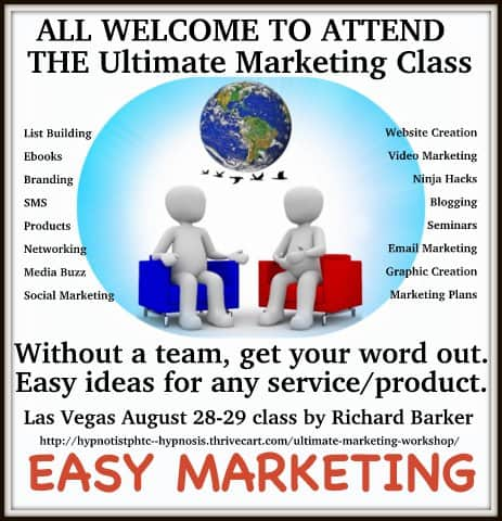 Who wants to join me in learning easy marketing you can do by yourself without a team? I attended a