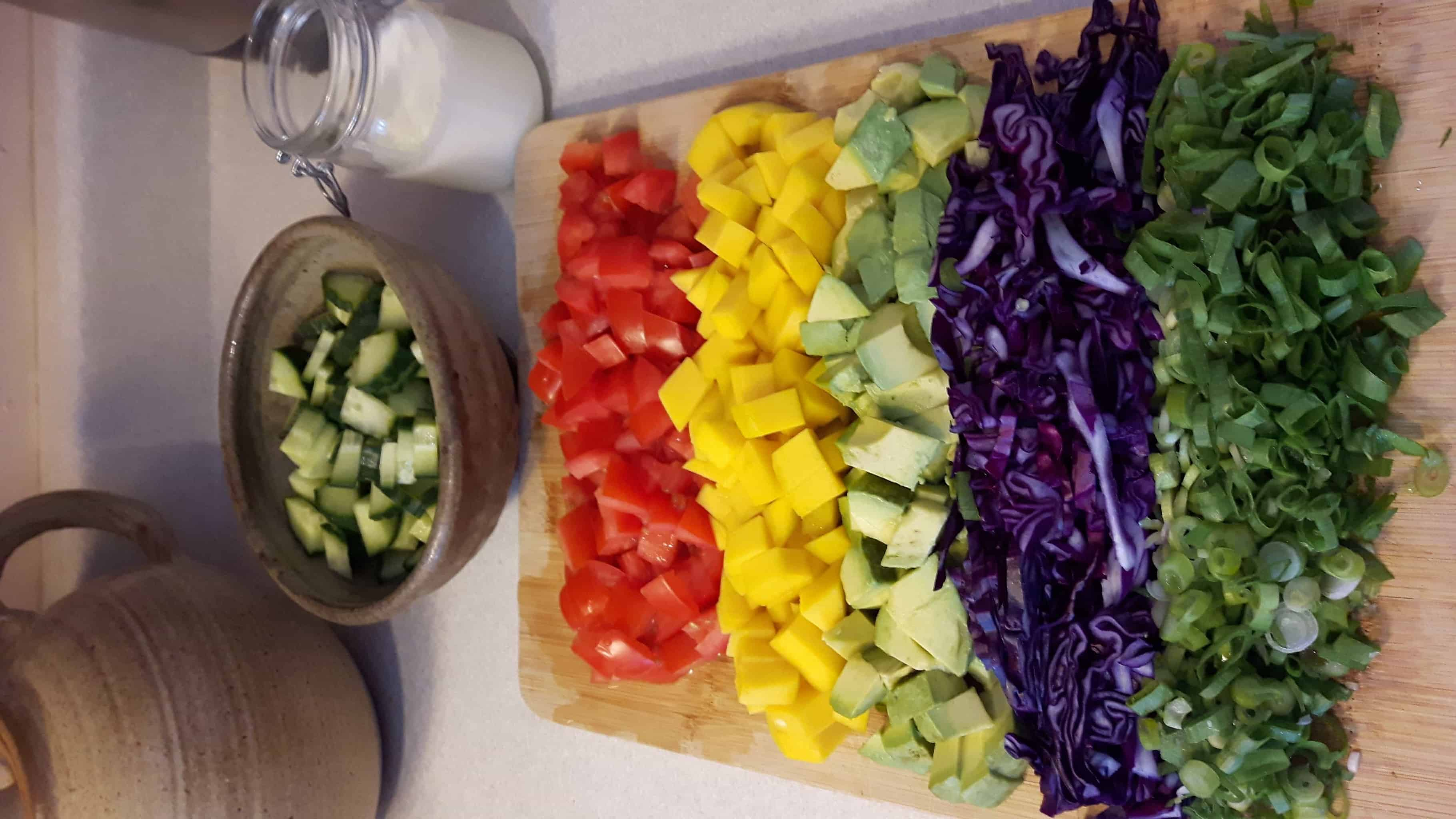 What's for lunch or dinner? Rice bowls for the Wierzbicki tribe! Eat in colour for optimal hea