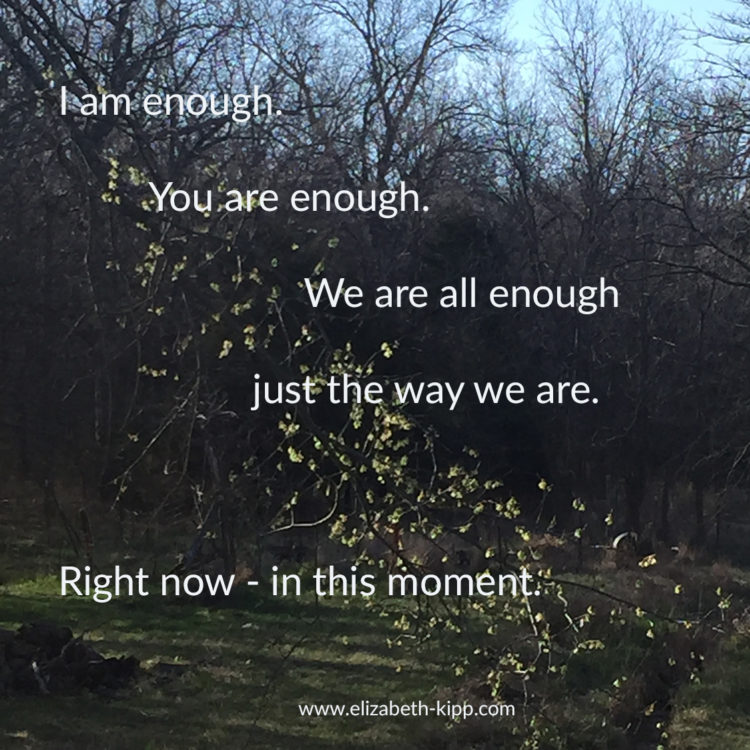 """Enough of the Not Enough – We Are All Enough! I've had it with the """"I'm not enough"""" voice"""