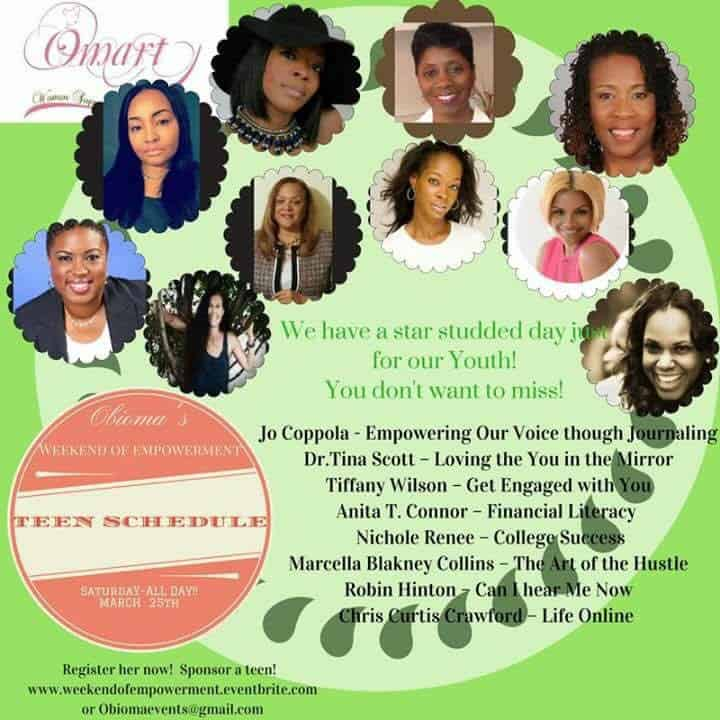 Here I am Speaking at the Womens weekend of Empowerment Hosted by OMART March 24 – March 26th