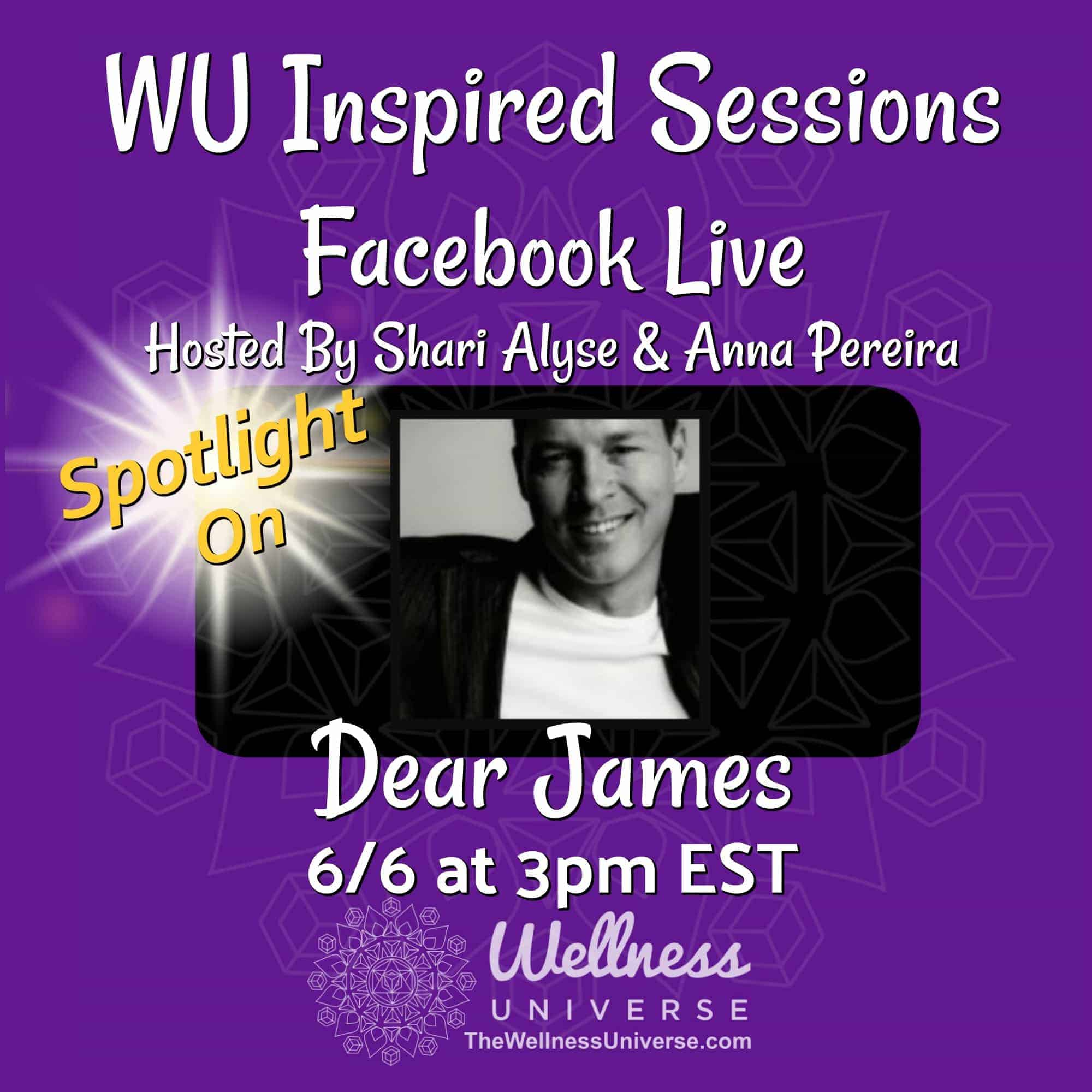TODAY! Come join us in 30 minutes Facebook LIVE with @dearjames! Excited to premiere The Wellness Un
