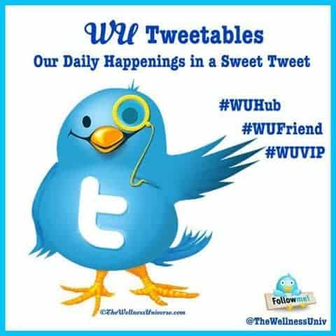 Happy #WellnessWednesday #WUVIP's and #WUFriend's! It's Daily Tweet time! –