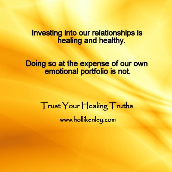 "Our degree of investment into others is a predictor of degree of wellness. ""Selective investme"