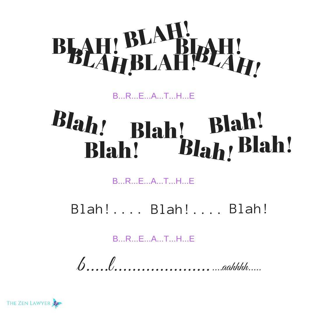 Deep breathing can take you from blah blah blah to aaaahhh… Meditation.-From-BLAH-BLAH-BLAH-to
