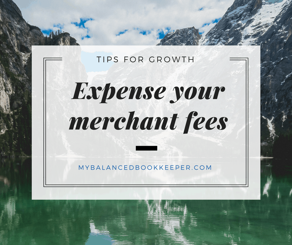 Receive online payments from customers? Don't forget to account for your fees as an expense! N