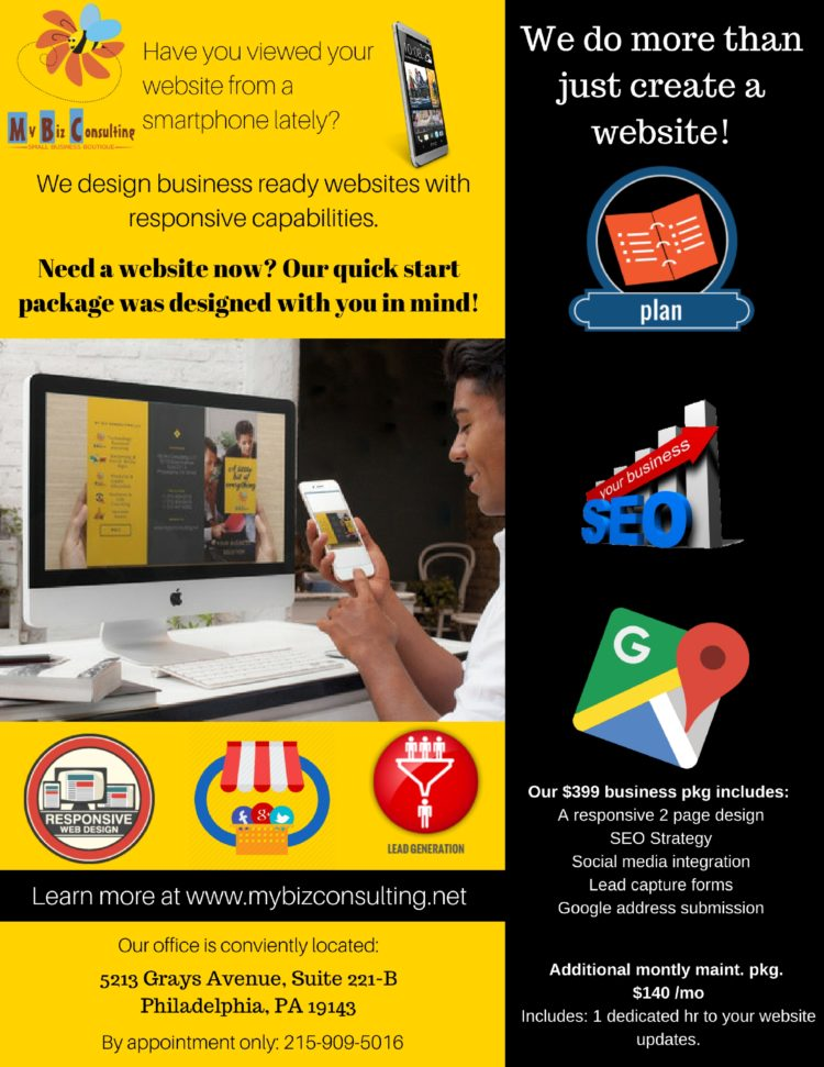 Have you looked at your website on a smartphone lately? We offer $399 mobile friendly websites for s