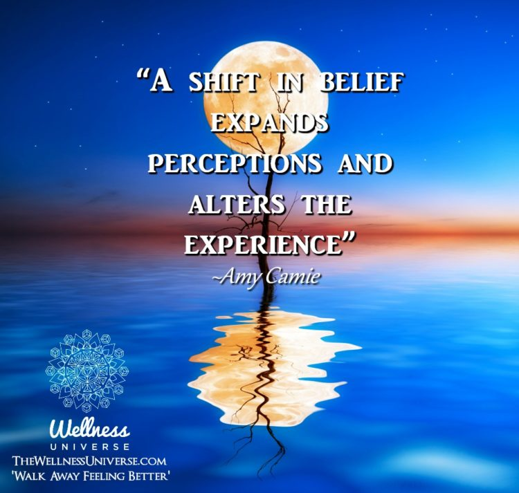 """""""A shift in belief expands perceptions and alters the experience"""" ~@amycamie #WUWorldChanger htt"""