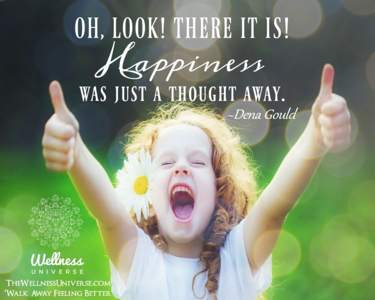 OH, LOOK! THERE IT IS! Happiness was just a thought away. ~@denagould #WUWorldChanger https://www.fa