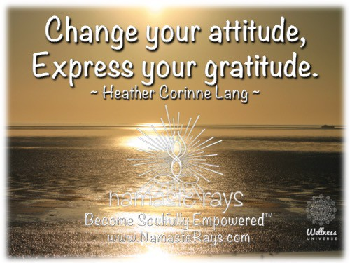 """You have control over your attitude…change it to change your life. """"Become Soulfully Empower"""