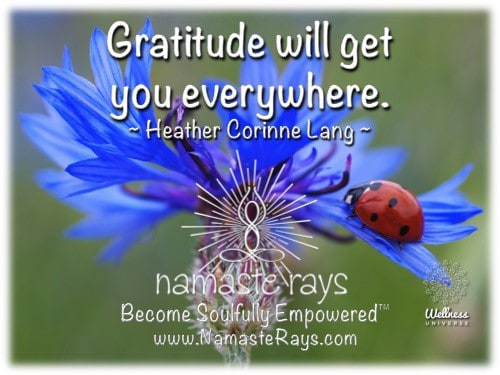 """Be grateful for ALL in your life. """"Become Soulfully Empowered™""""~ https://goo.gl/ZPKrmb Namaste"""