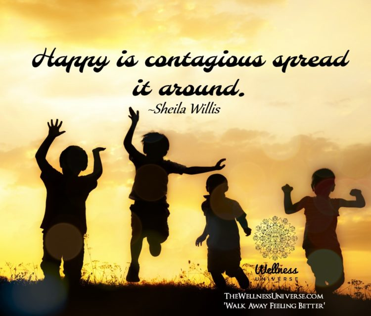 Happy is contagious spread it around. ~@sheilawillis #WUWorldChanger https://www.facebook.com/Wellne