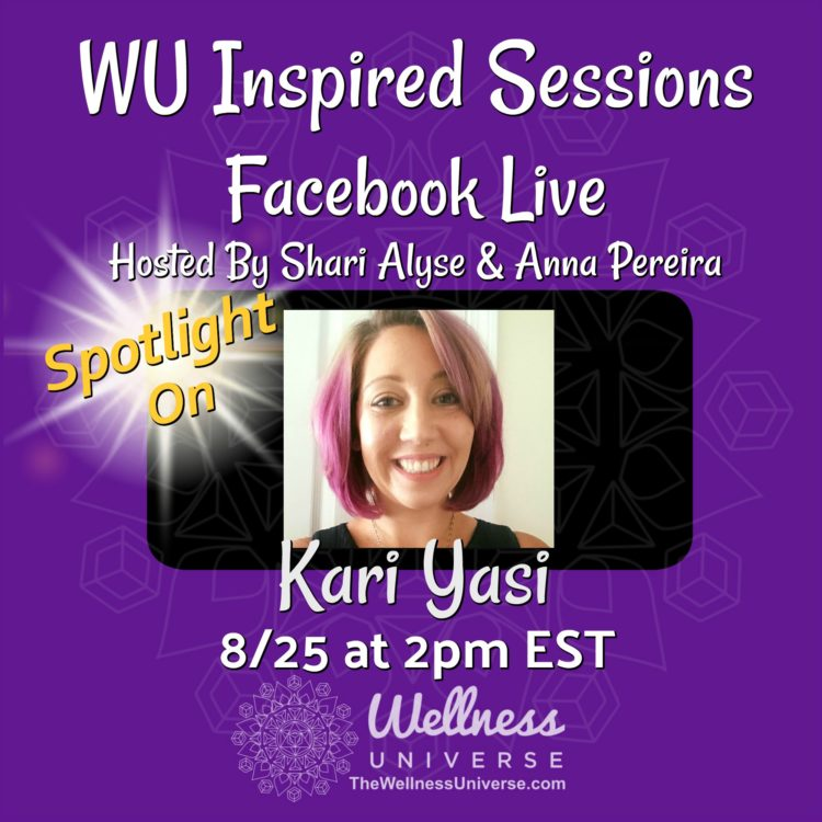 Today at 2:00 PM meet @kariyasi – Kari Bakker Yasi on Facebook Live Inspired Sessions with Sha