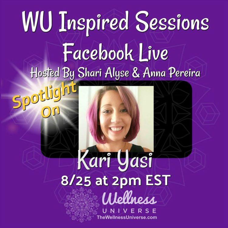 Today at 2:00 PM meet @kariyasi – Kari Bakker Yasi on Facebook Live Inspired Sessions with Shari A