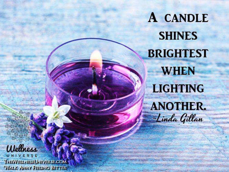 A candle shines brightest when lighting another. ~@lindagillan #WUWorldChanger https://www.facebook.