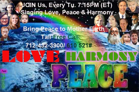 LOVE U, EveryONE! ~ JOIN Us, LiVe 30min Chanting, 7:15PM(ET) OUR East Coast Effort to Bring LOVE, PE