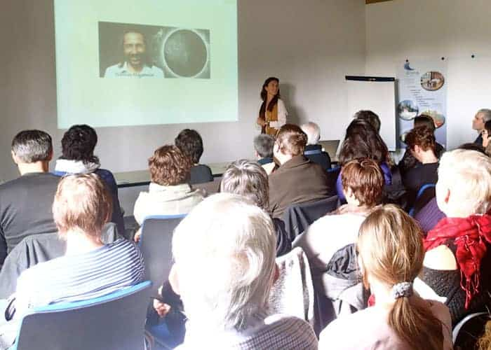 Some of the conferences, seminars in Switzerland. Conference_Dharmi_ChristelleChopard_Switzerland1Co