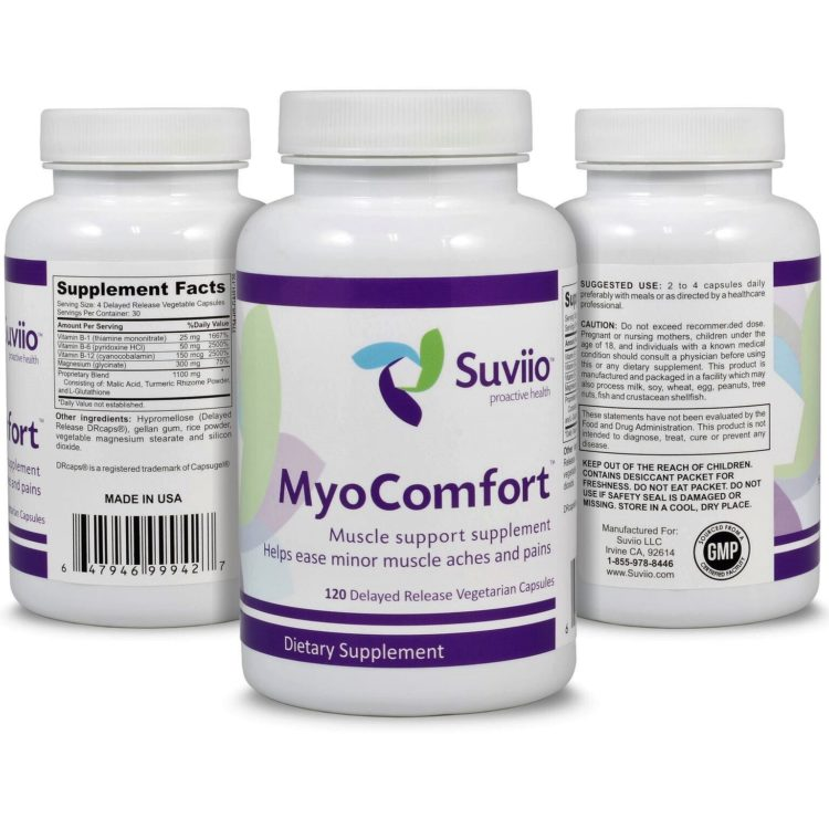 MyoComfort – 120 extended release capsules help mask taste and minimizes risk of reflux, 100%
